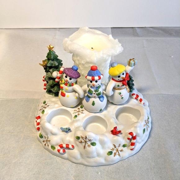 PartyLite Bisque Porcelain Candle Holder